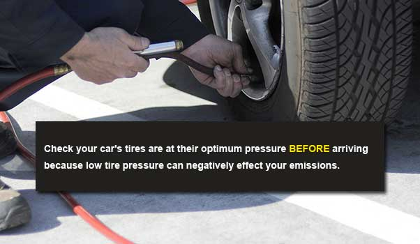 smog test pass tip - check tire pressure
