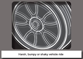 Harsh, bumpy or shaky vehicle ride